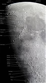 Luna- 02-10-2014 Telescopio C11HD; F:10; Cámara Canon 1100D; 1 vídeo de 60¨; Procesado: AutoStakkert y Registax.