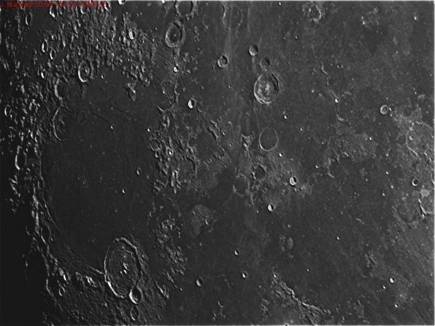 Luna- 30-06-2016 Telescopio C11HD; F:10; Cámara ASI174MM-C; 1 vídeo de 60¨; Procesado: AutoStakkert y Registax.