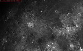 Luna- 30-06-2016 Telescopio C11HD; F:10;Cámara ASI174MM-C; 1 vídeo de 60¨; Procesado: AutoStakkert y Registax.