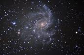 C12-Galaxia Fuegos Artificiales Fecha :20-10-16 Telescopio C11HD; F:7.5 ;Cámara ASI174MM-C;  L=5x300¨;R=5x300¨;G=5x300¨;B=5x300¨;Dark=10 x 300 Procesado: PixInsigth