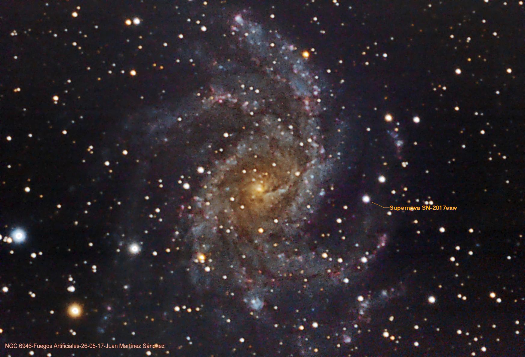 NGC6946-supernova-SN2017eaw-26-05-17 Juan Martínez Sánchez