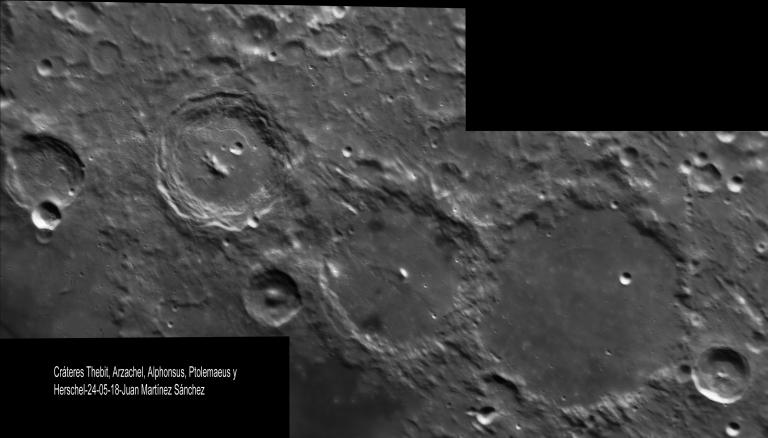 Thebit, Arzachel, Alphonsus, Ptolemaeus y Herschel-2018-05-24